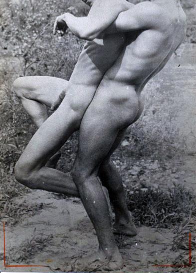 vintage-lutteurs-nus